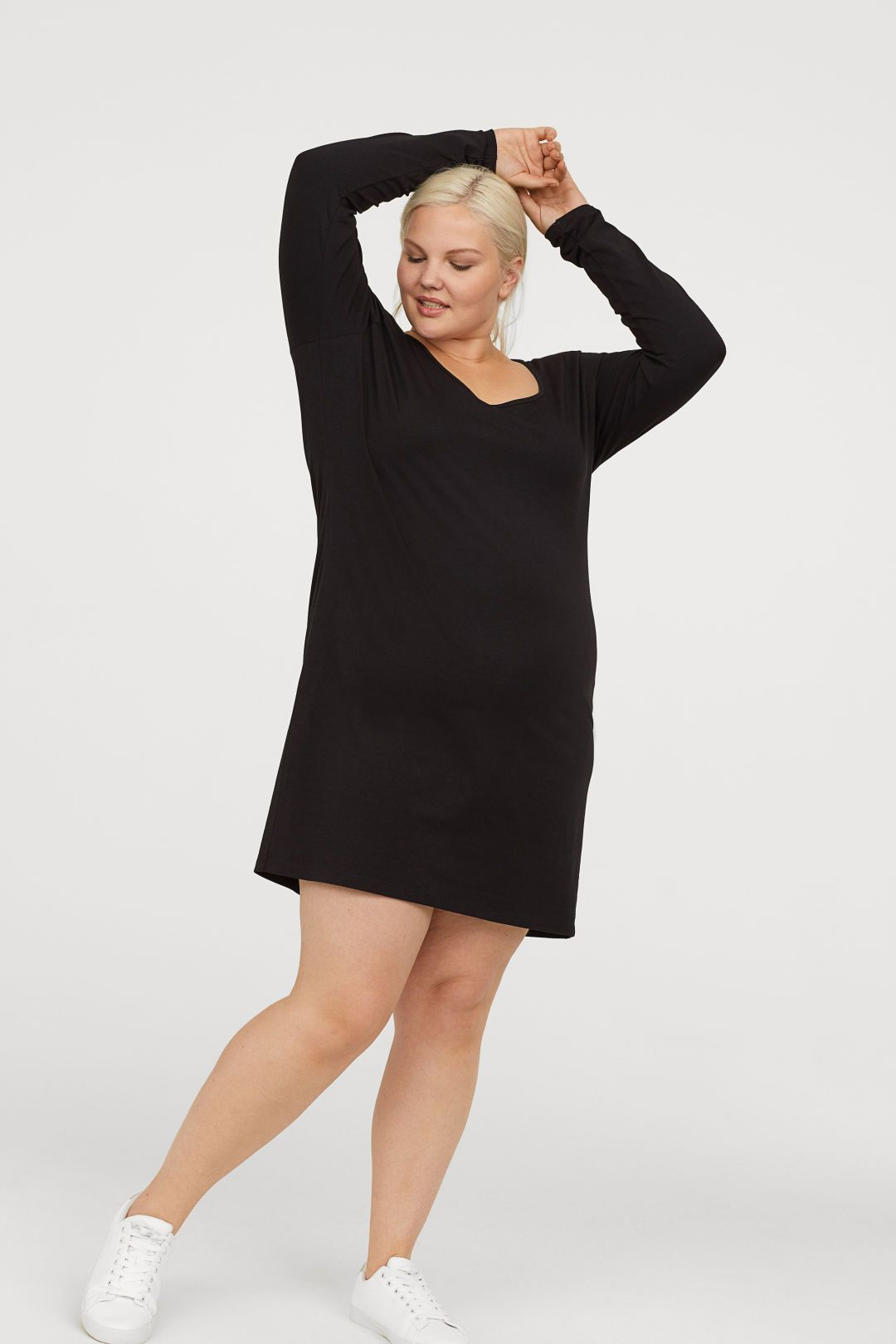 61f3fe8a103 Jersey Tunic in 2019 | My Edgy Curvy Closet | Tunic, Dresses, High ...