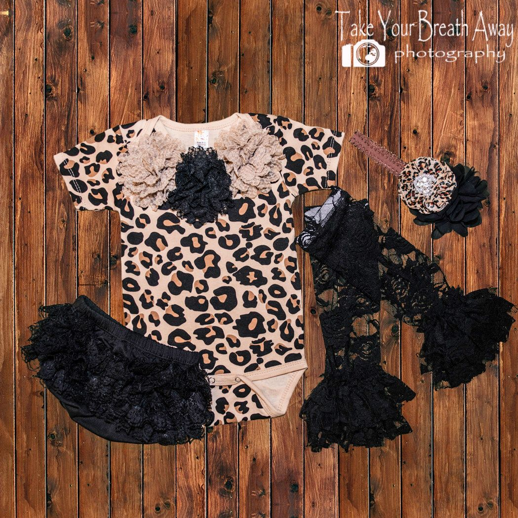 Newborn Girls Leopard Print Outfit Girl Take Home Outfit