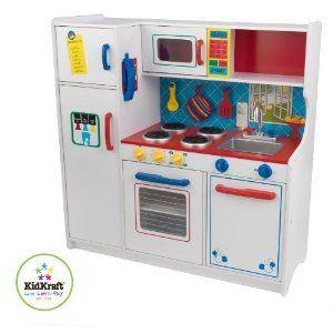 Amazon Com Kidkraft Deluxe Let S Cook Kitchen Toys Games Toy Kitchen Set Toy Kitchen Kidkraft