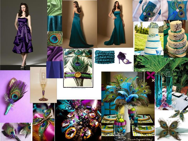 Peacock Theme Make Your Wedding Exotic The Dessy Group