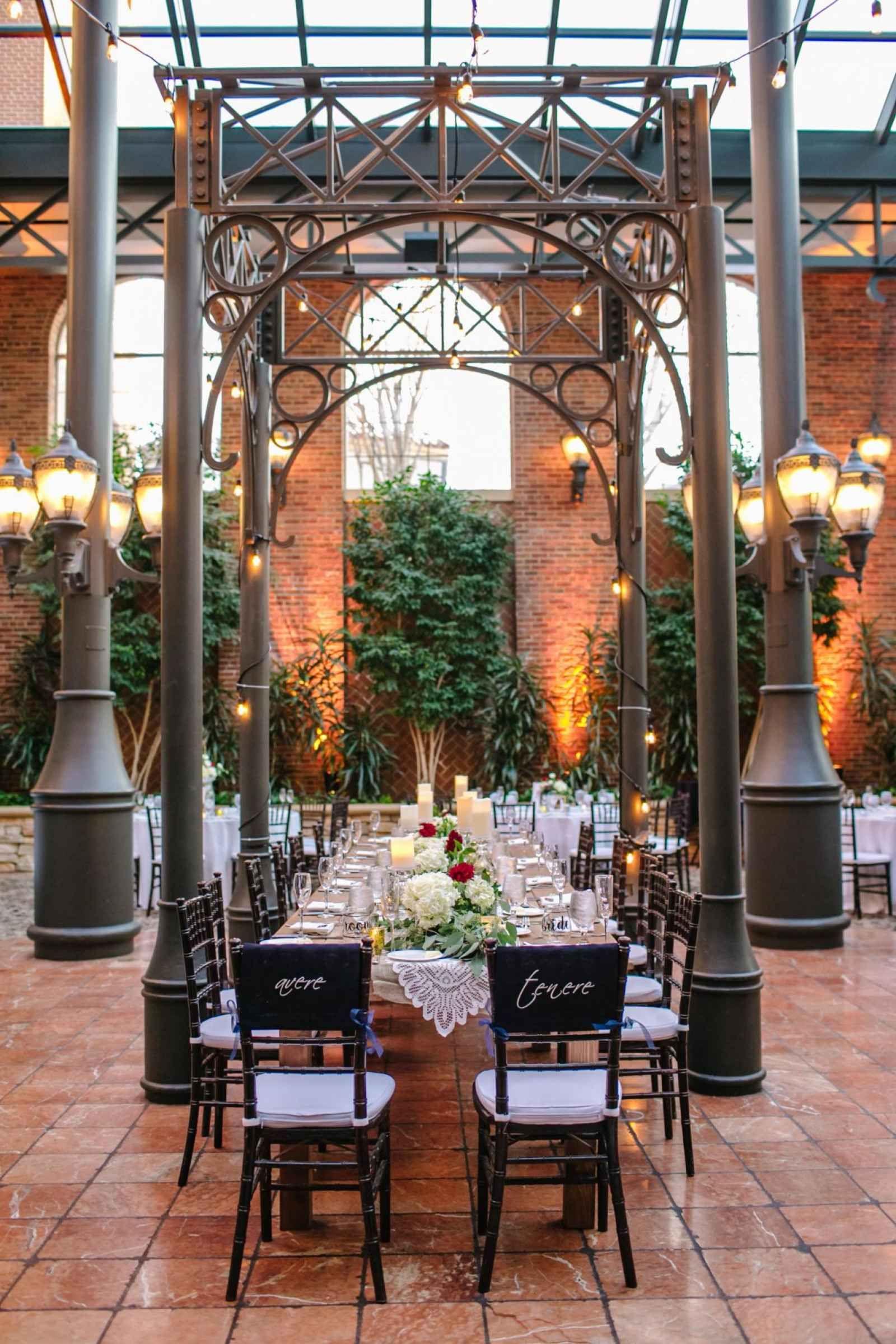 Atrium Wedding Reception The Story Of Nina And Marc Kieleszewski Weddingday Magazine