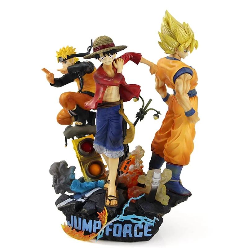 Anime Son Goku One Piece Luffy Naruto Uzumaki Jump Force Action Figure In 2021 One Piece Luffy Hulk Action Figure Groot Action Figure