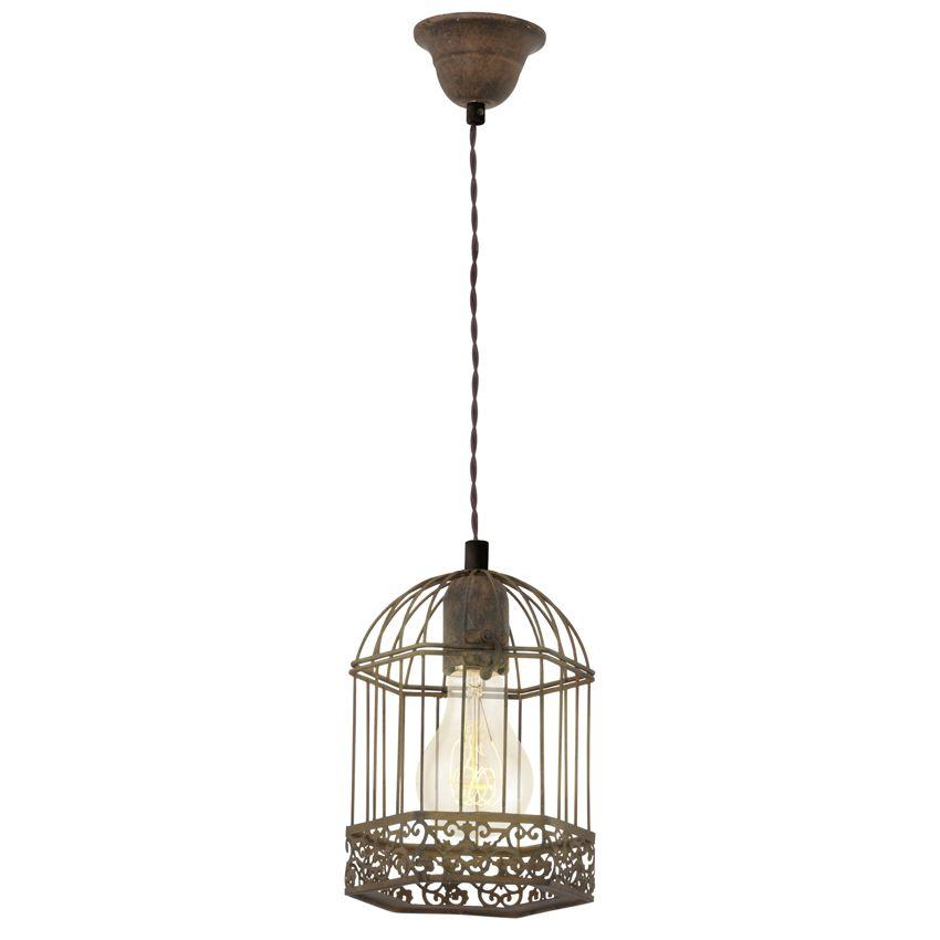 wat vinden jullie van deze roestkleurige vintage hanglamp je