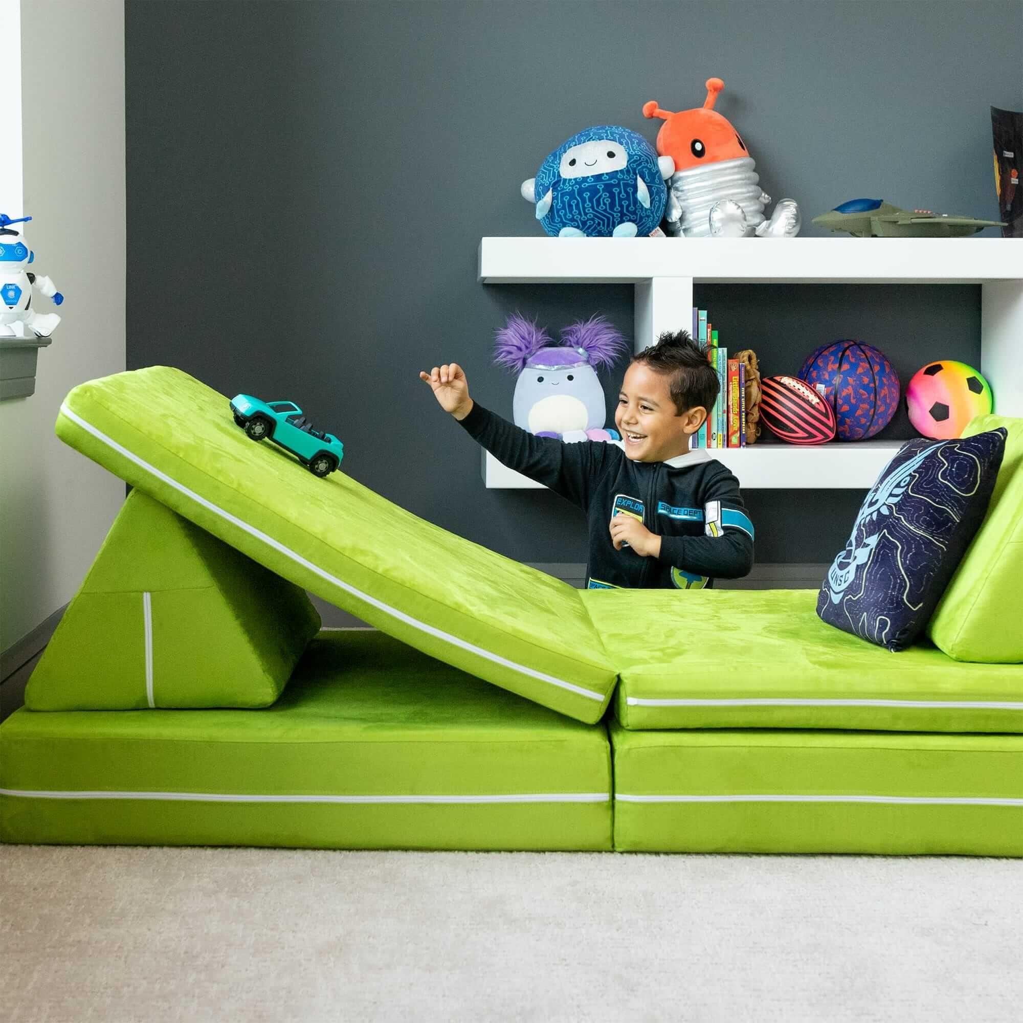 Zipline Playscape Kids Play House Fort Indoor Furniture - Light Green