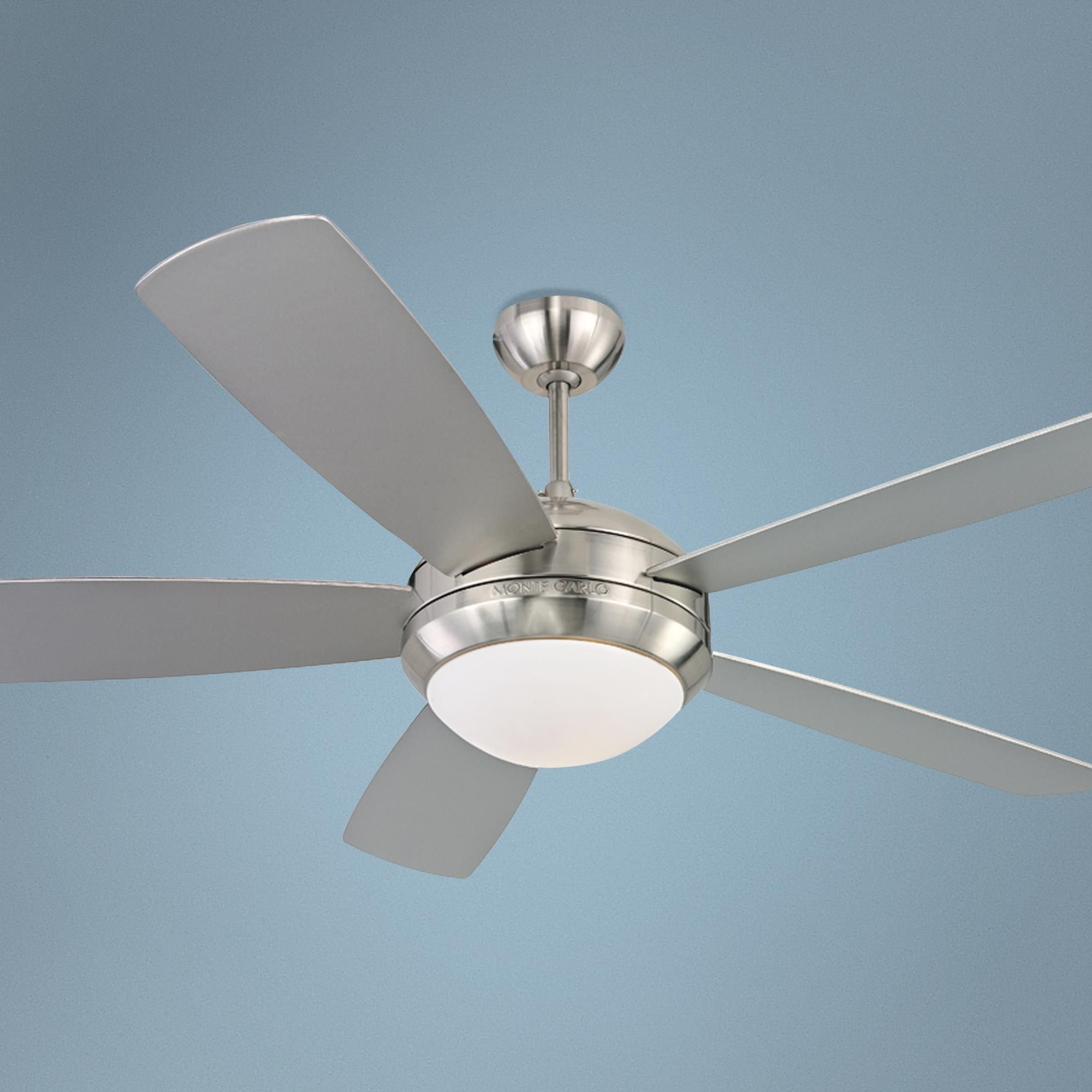 52 Quot Monte Carlo Discus Brushed Steel Ceiling Fan Ceiling