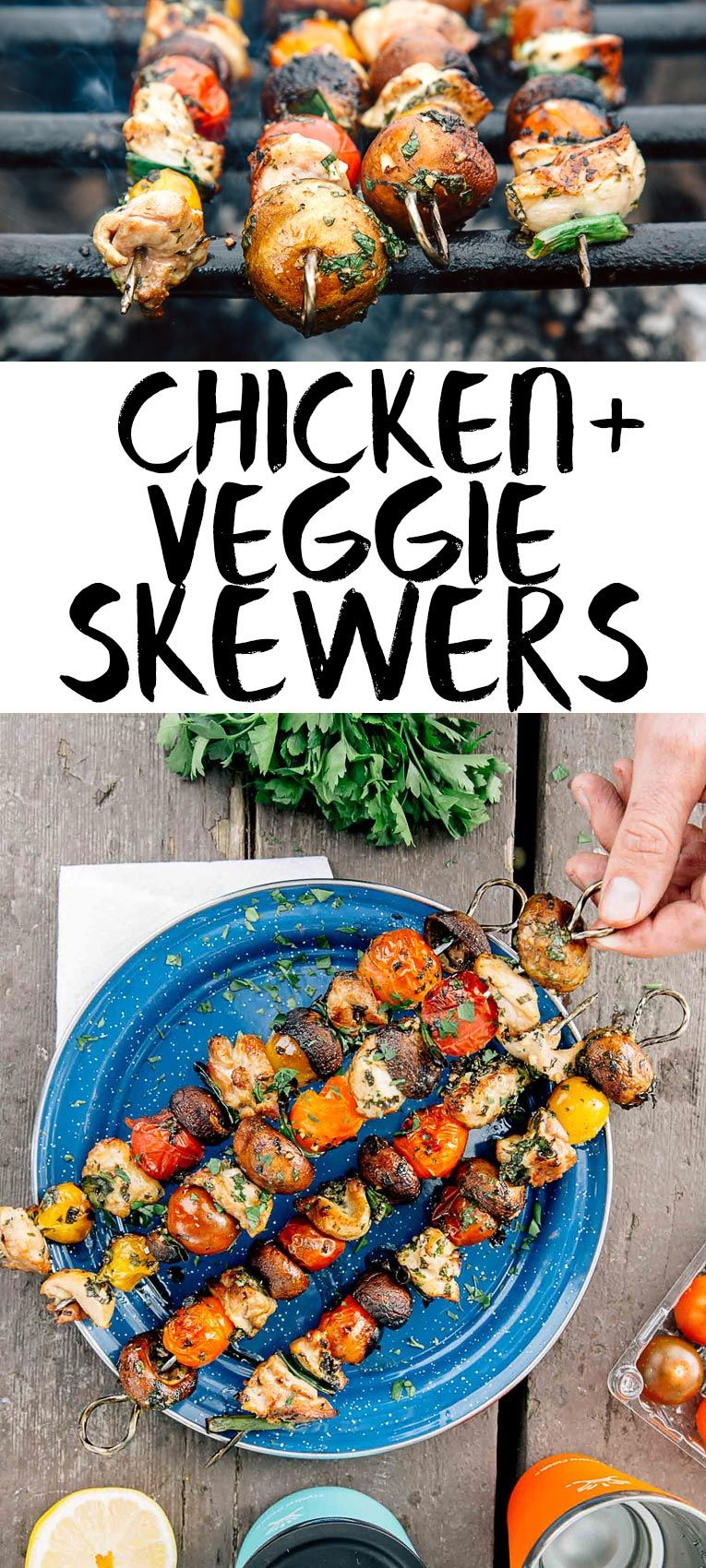 Grilled chicken veggie skewers recipe veggie skewers easy grilled chicken veggie skewers forumfinder Images