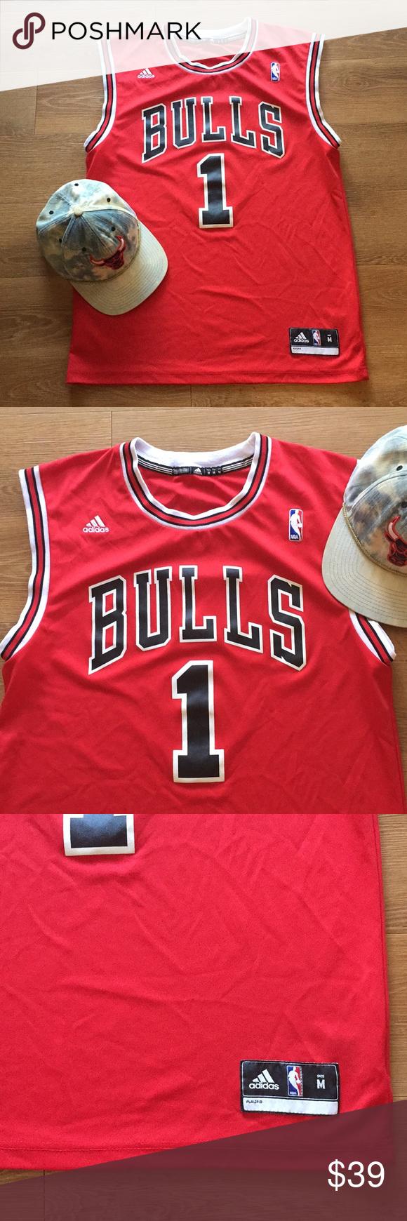 low priced ea0ad 139ae 🏀Chicago Bulls🏀 bundle Men's M Adidas Derrick Rose Chicago ...