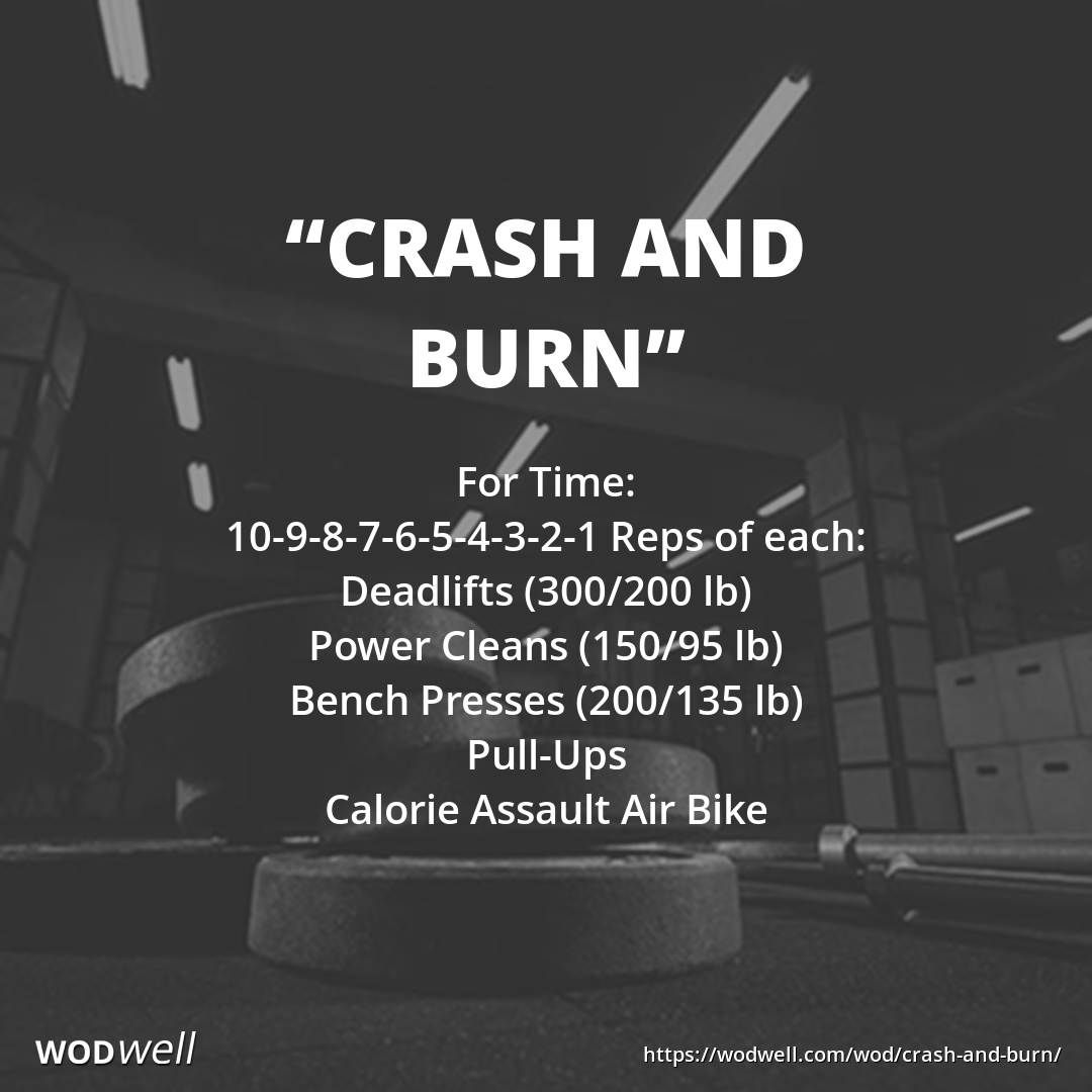 Crash And Burn Wod Wod Workout Crossfit Workouts At Home Crossfit Workouts