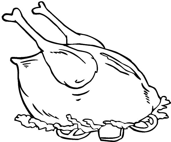 Fried Chicken Served With Salad Coloring Pages Download Print Online Coloring Pages For Free C Food Coloring Pages Chicken Coloring Turtle Coloring Pages