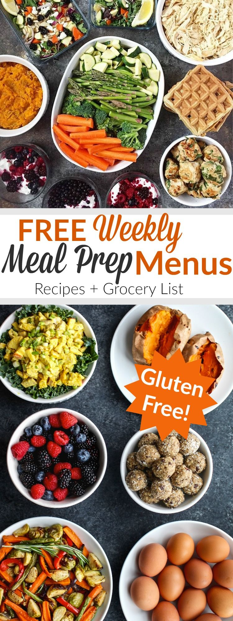 24fa5ec2d78 Easy FREE weekly meal prep menus including recipes and done-for-you grocery  list