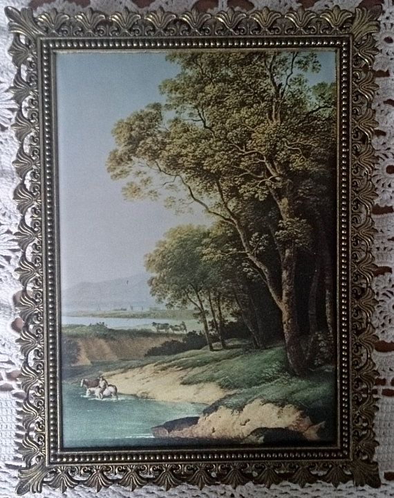 A Set of 2 Romantic Italian Silk Pictures in by RomanzaLoveVintage