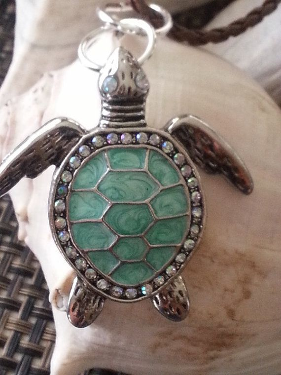 Necklace Turtle Funky 925 Sterling Silver Tortoise Pendant /& Silver Box Chain