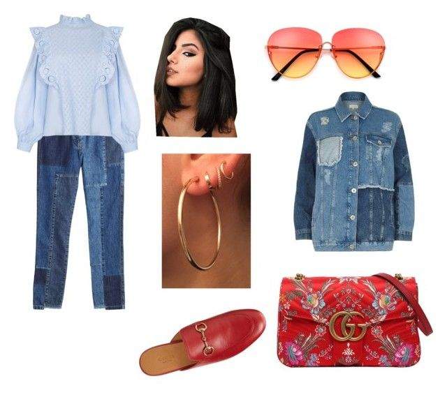 """""""My way"""" by nicoleta-girovanu ❤ liked on Polyvore featuring River Island, Gucci and McQ by Alexander McQueen"""