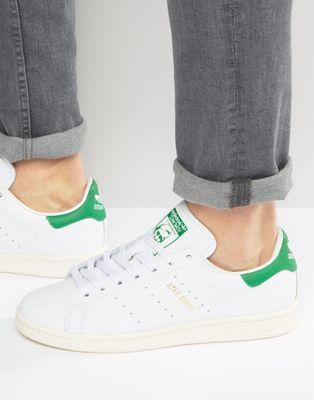 promo code 675b9 c6ece Zapatillas de deporte de cuero Stan Smith de adidas Originals