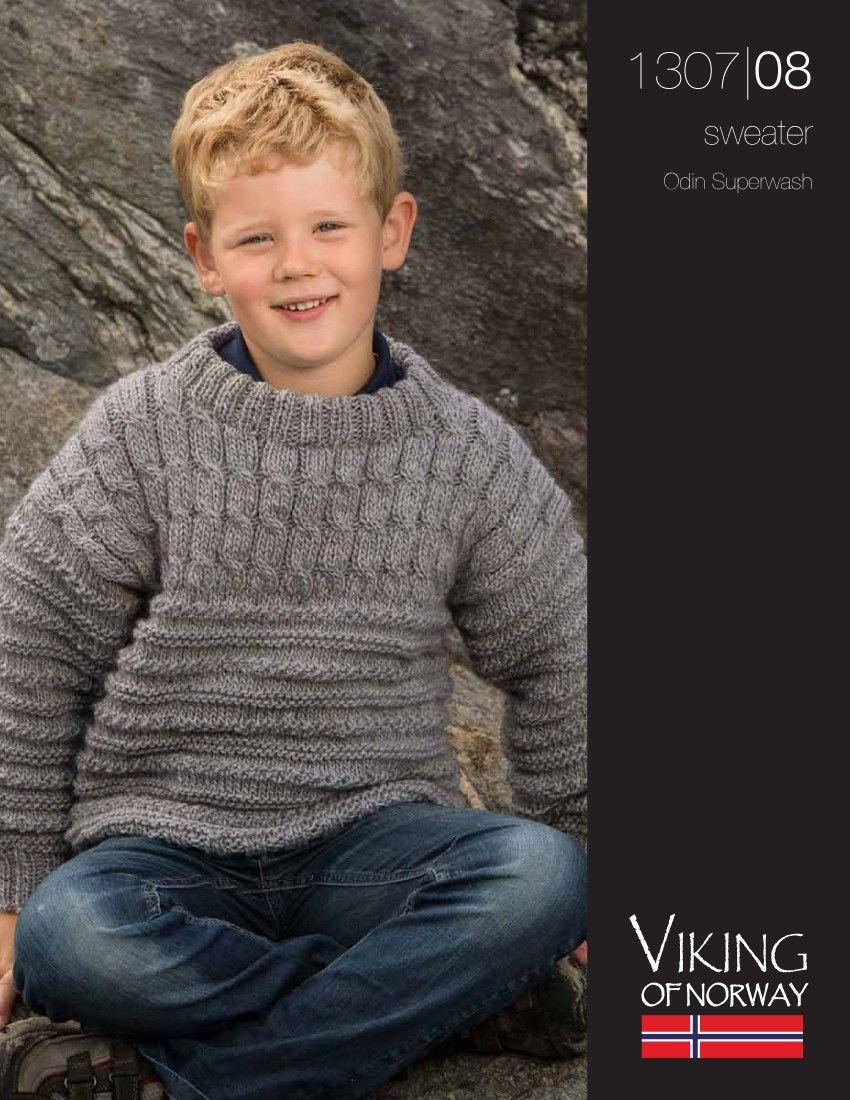 Odin Superwash suéter - 1307-1308 | Knitting Fiebre Hilos y Euro ...