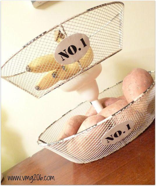 #craft DIY Tiered Kitchen Basket - From VMG206