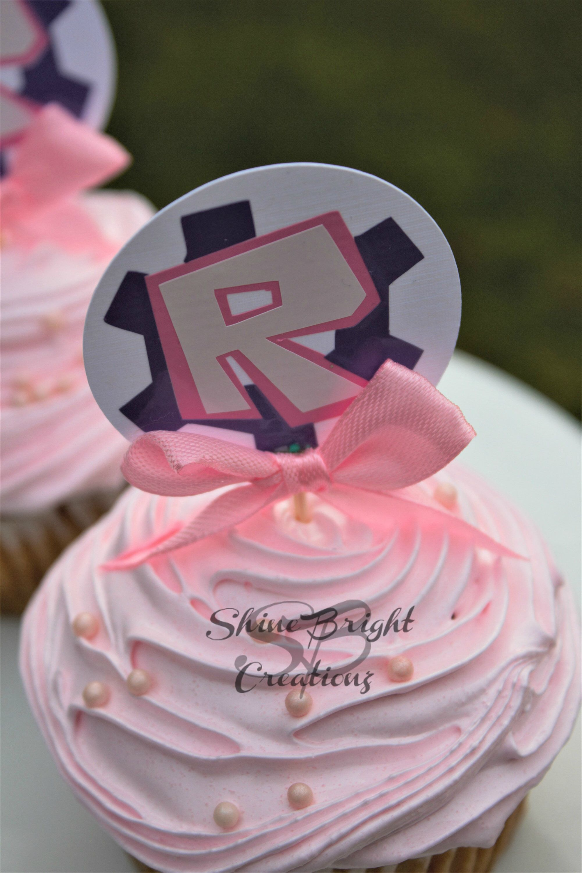 Roblox Cupcake Topper Pink Roblox Cupcake Topper Roblox Toppers