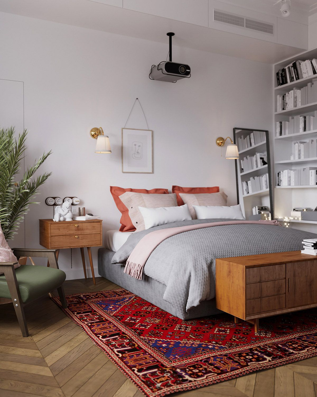 Earthy Eclectic Scandinavian Style Interior Interery Spalni Skandinavskij Dizajn Interera Skandinavskij Dizajn