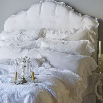 """Belle Notte White """"Whisper Linen"""" bed"""
