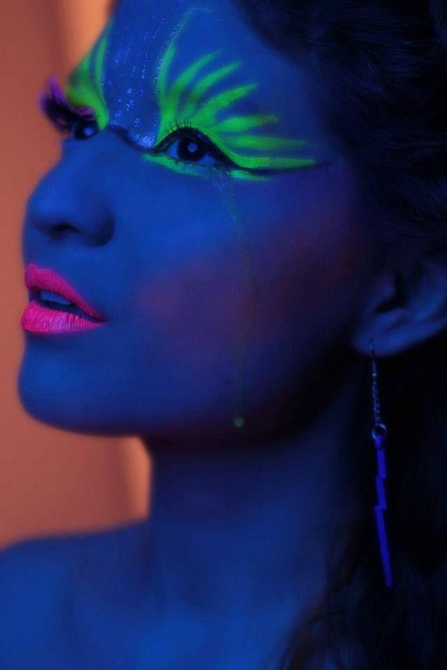 Maquillaje Neón FIESTA FLUOR O NEON Pinterest Photoshoot and