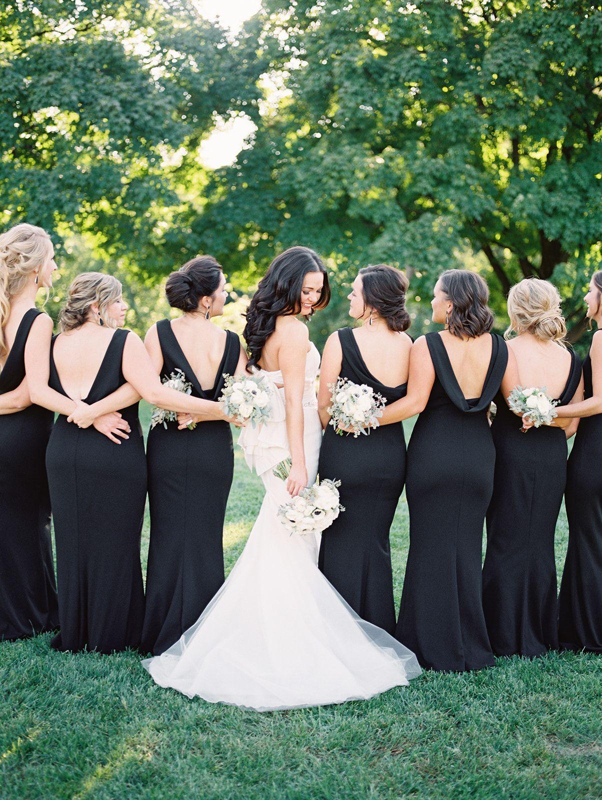 Wedding Dress Inspo Bridal Party Black Bridesmaid S Dresses Black And White Wedding Theme Black Bridal Parties Wedding Bridesmaid Dresses [ 1600 x 1205 Pixel ]