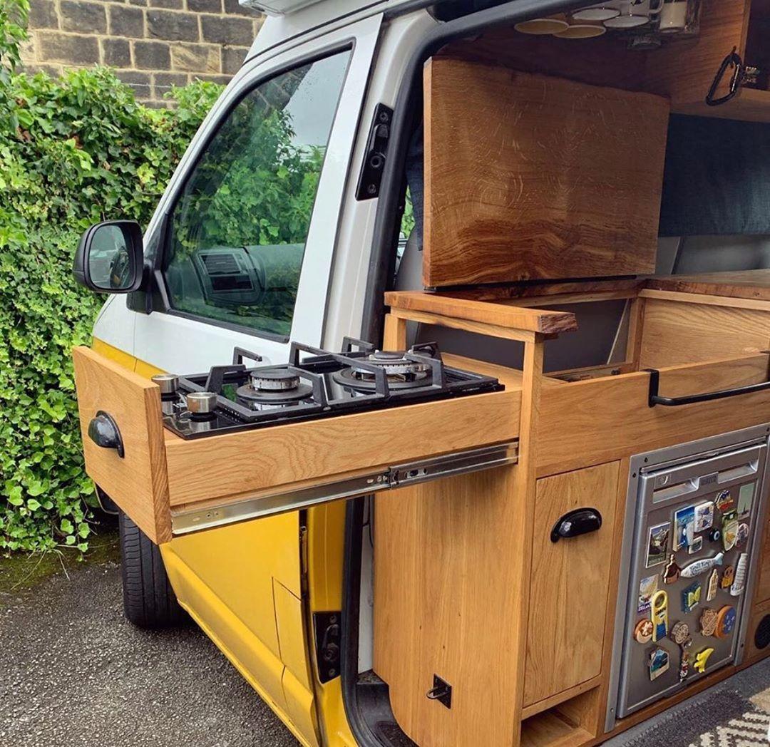 """Photo of Van Build 360 on Instagram: """"summer or winter, indoor or outdoor stove top 🔥☃️🌞🌚 check into @homerroamer Volkswagen Van to 𝑽𝒊𝒆𝒘 their detail layout/design 🚐☺️🌙…"""""""