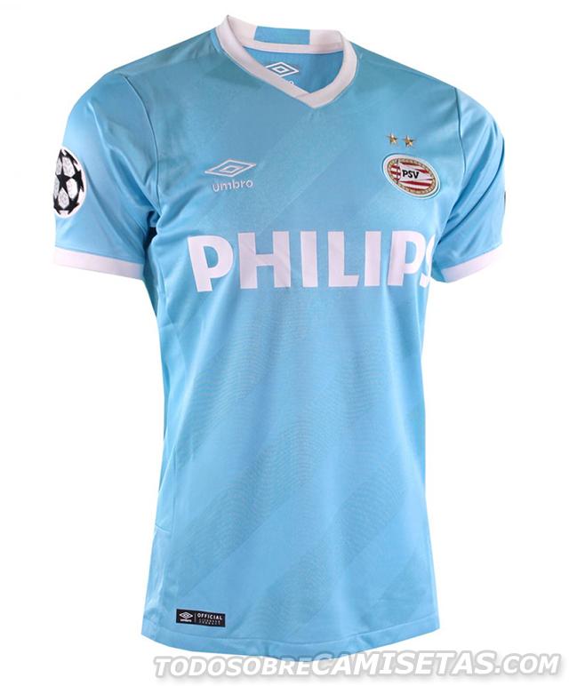 PSV Eindhoven Umbro 15 16 European Kit - Todo Sobre Camisetas ... 47c44ce92e173