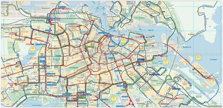 Official Amsterdam Transport Maps 2019 Amsterdam Karte