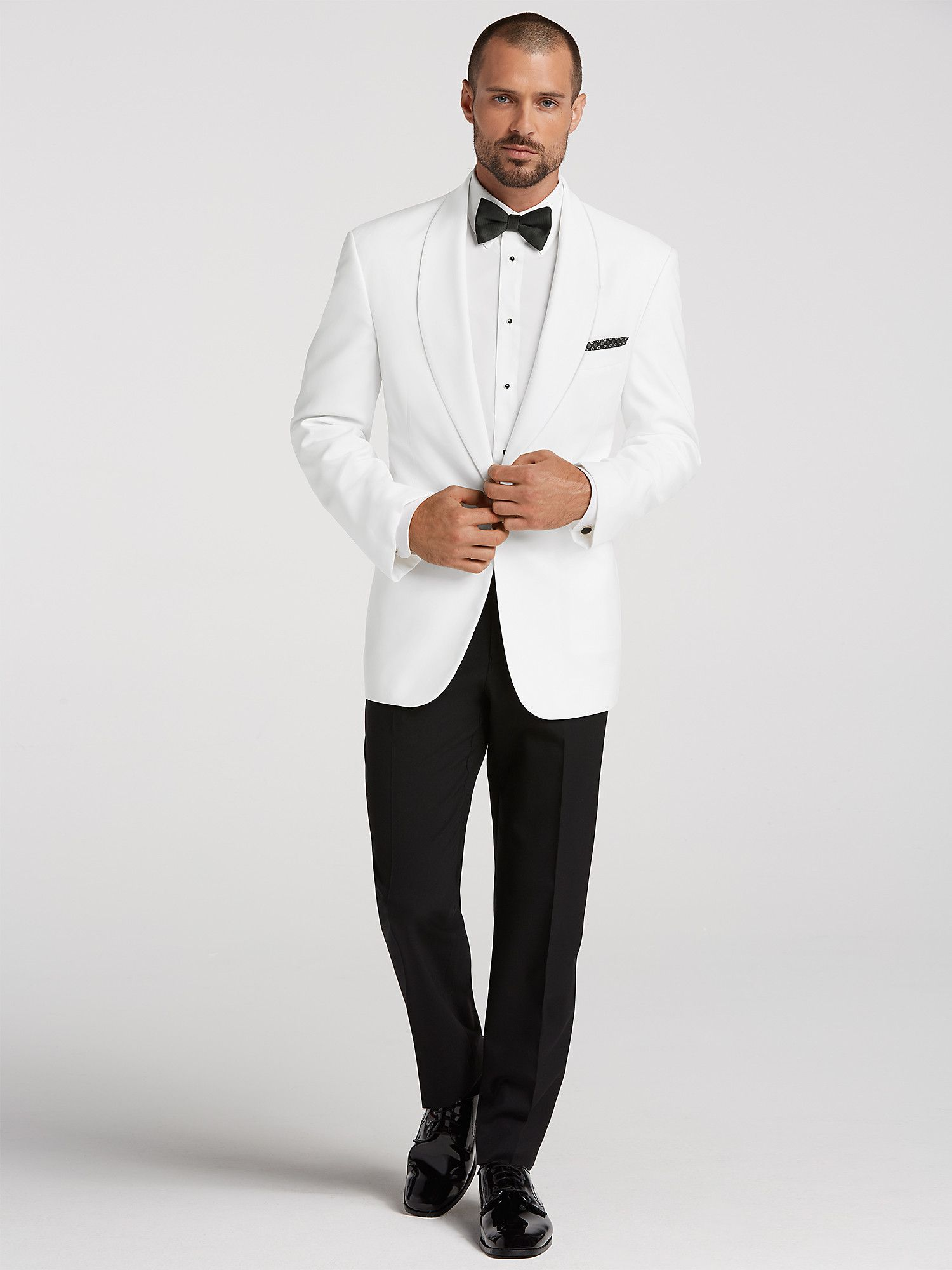 4ef8b0028 White Dinner Jacket Tux by Joseph   Feiss