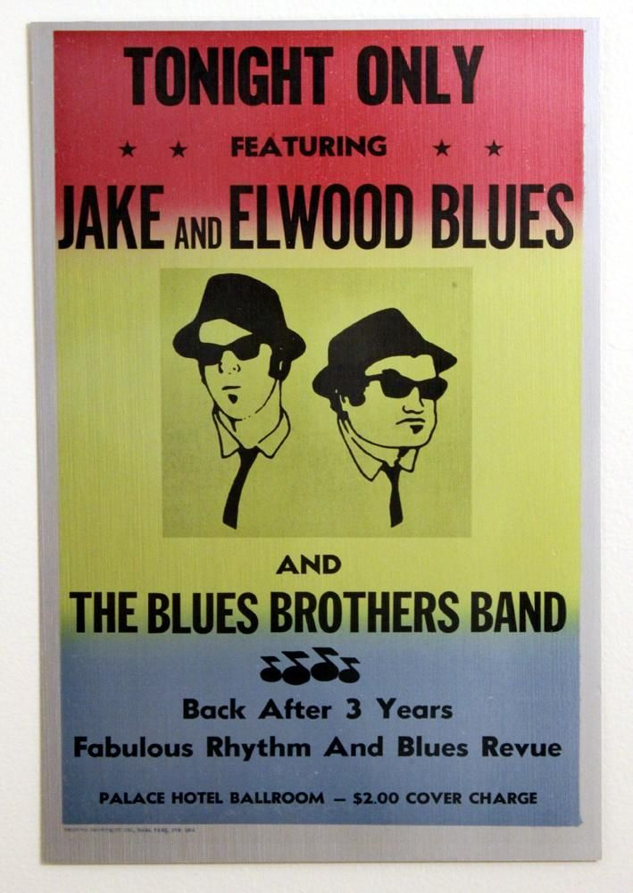 Blues Brothers Movie Poster Artisan Metal Sign Wall Art 8in W x 12in ...