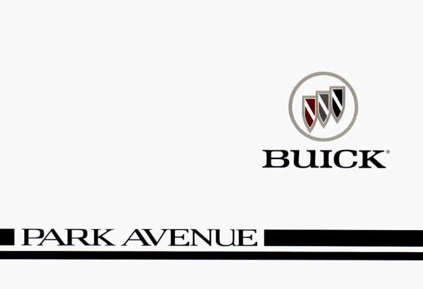 Buick Park Avenue 1996 Owner's Manual has been published