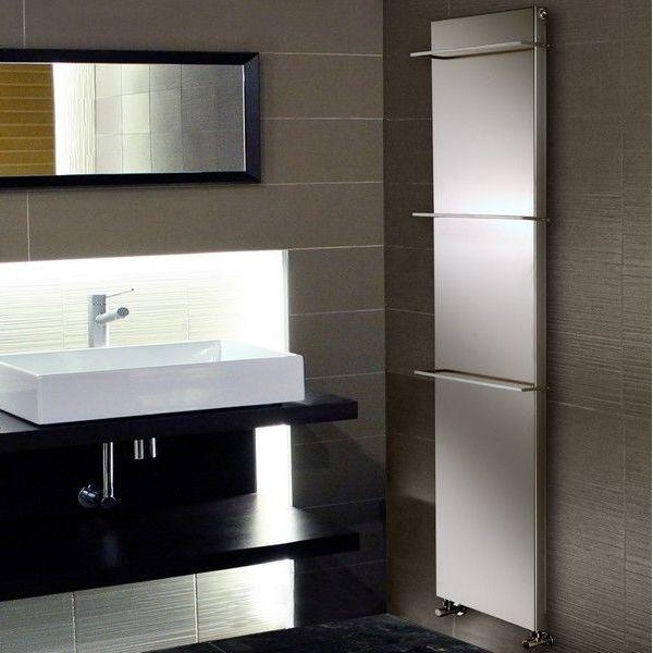 le radiateur s che serviette version lectrique plat inox du pur high tech exalte par la. Black Bedroom Furniture Sets. Home Design Ideas