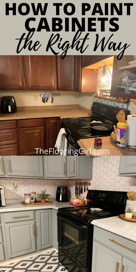 How to paint cabinets the RIGHT way!
