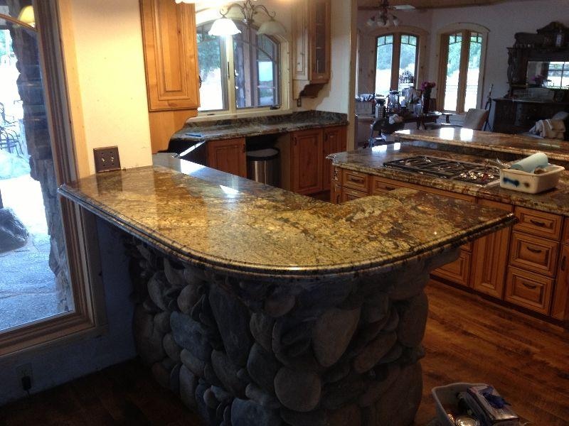 Love The Stone Wrap Around Beneath The Granite Countertop
