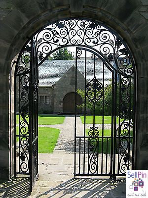 Luxury Wrought Iron Entry Gate Designs