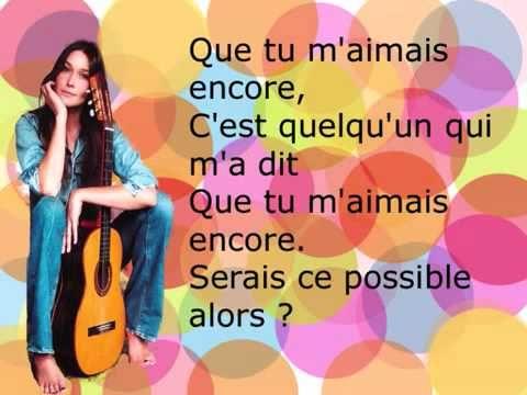 Quelqu Un M A Dit Carla Bruni With Lyrics Youtube Com