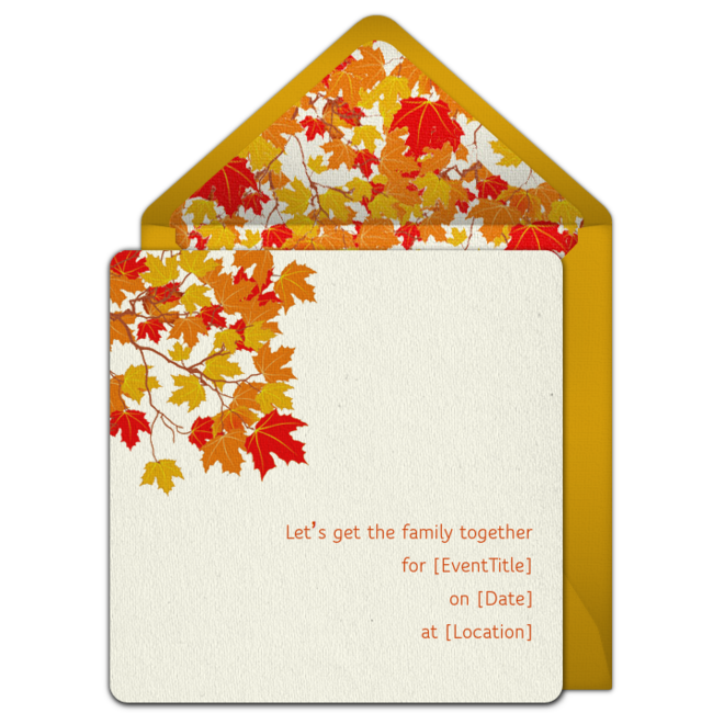 free fall foliage invitations fall party ideas pinterest