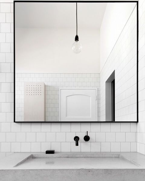 A serious minimalist aesthetic bathroom for a Scandi ...