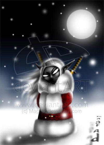 chibi snowy drow by Magrad.deviantart.com on @deviantART