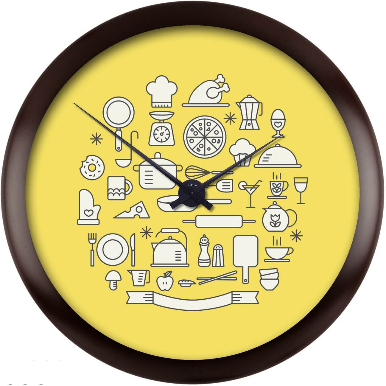 Buy Kitchen Clock Part - 37: FOR THE KITCHEN - Bright Orange Analog Wall Clock Price In India - Buy  Bright Orange