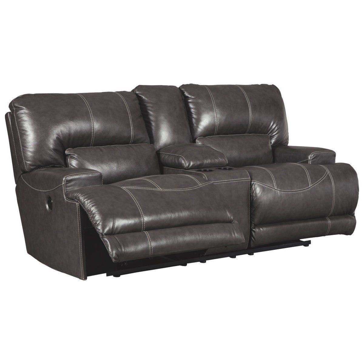 Stupendous Leatherette Upholstered Metal Power Reclining Loveseat With Frankydiablos Diy Chair Ideas Frankydiabloscom