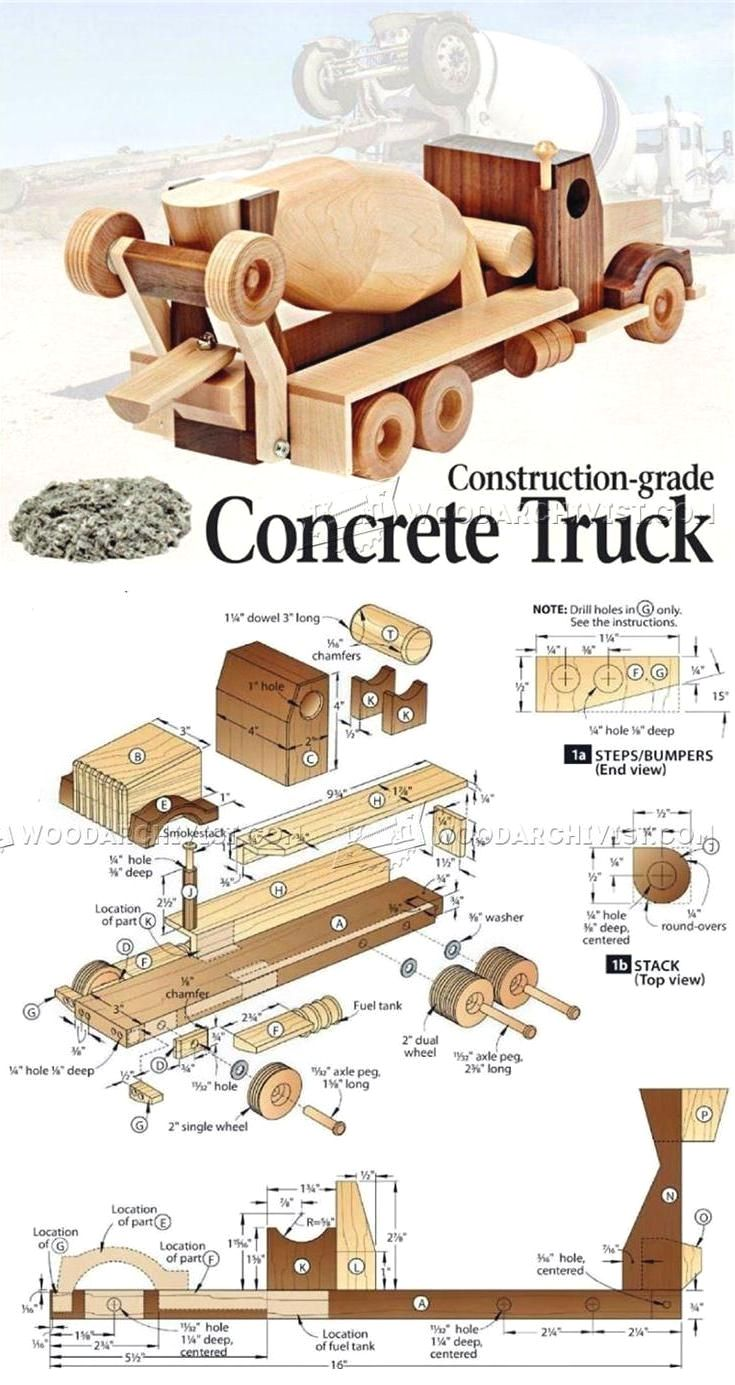 29 Woodem Truck Toy Plans Simple Wooden Projects You Can