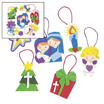 Religious Christmas ornament crafts for kids.