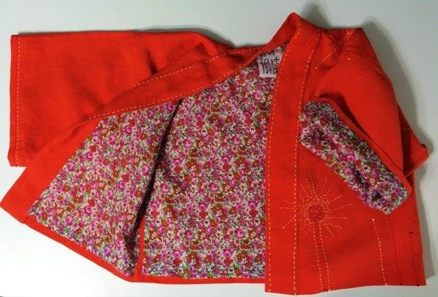 Now Sewing: Child's linen kimono with cotton lawn lining and hand stitching - so cute!