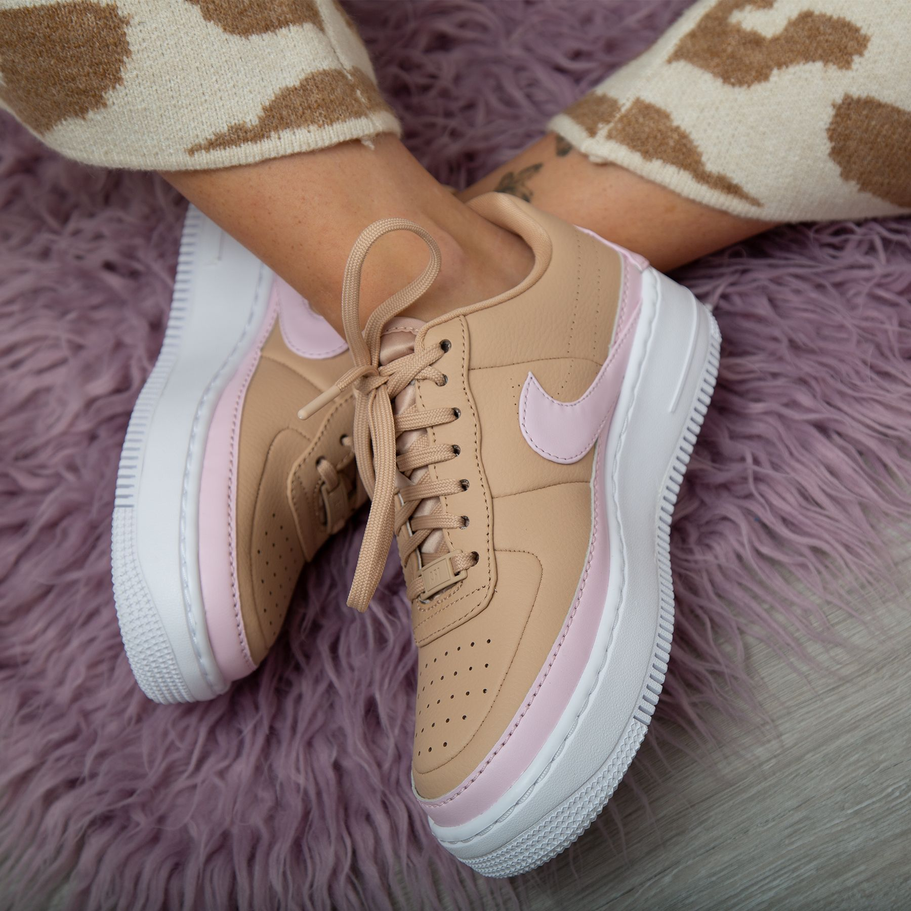 nike air force 1 jester beige and pink