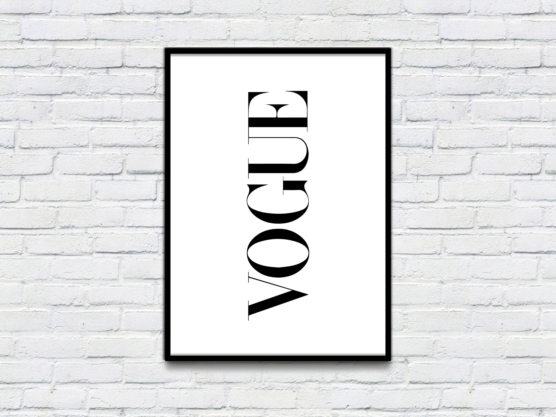 Vogue Wall Art Print Vouge Fashion Print Black And White Wall Art Printable Modern Wall Art Instant Download Printable Quotes Home Decor By Designb Decoracao
