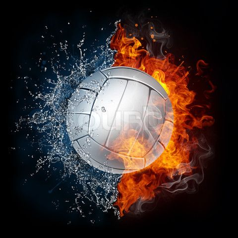 Image Of Modern Sport Ball On A White Background Volleyball Backgrounds Volleyball Wallpaper Beach Volleyball