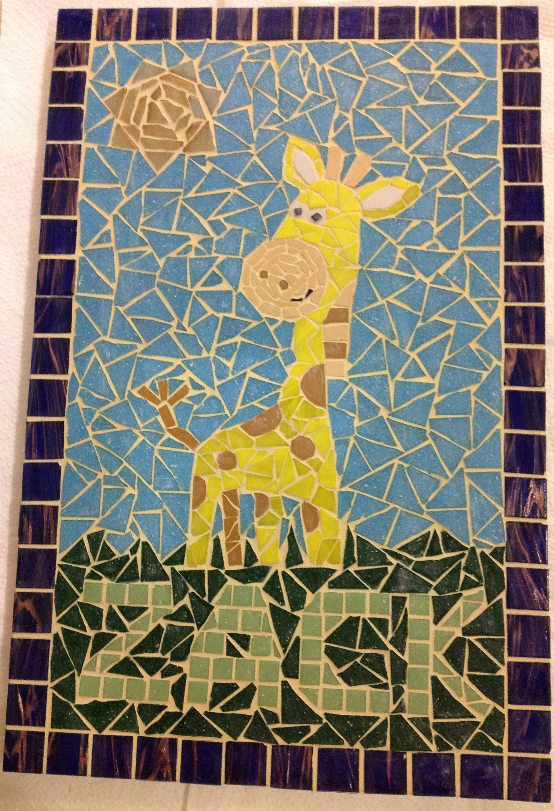 Personalised Giraffe Mosaic Wall Art - The Supermums Craft Fair ...