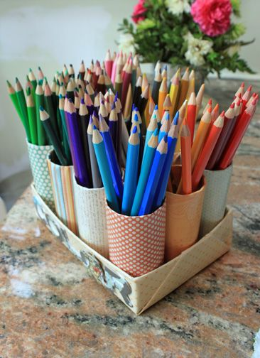 Diy Colored Pencil Organizer Pencil Organizer Diy Pencil Holder