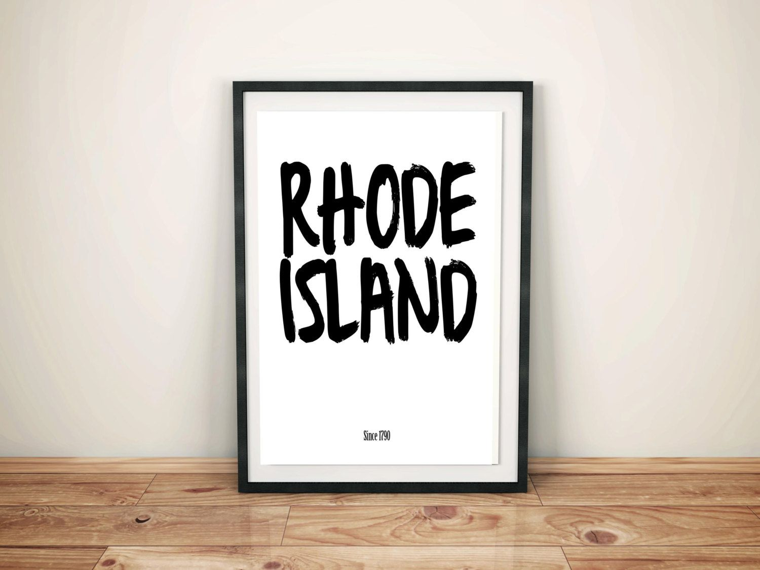 Rhode Island Instant Download US State Poster Printable Wall Art Typography Print Work Space Home Décor Design Gift RI custom art